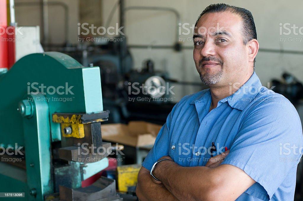 Hispanic Manufacturing Supervisor royalty-free stock photo