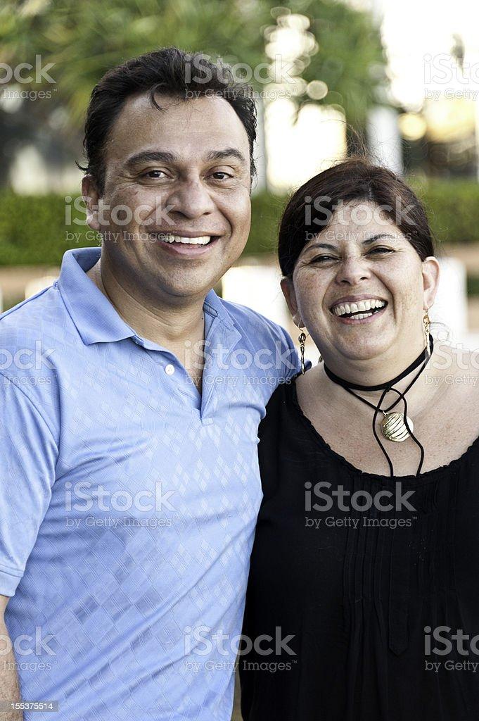 Hispanic mature couple on vacation royalty-free stock photo