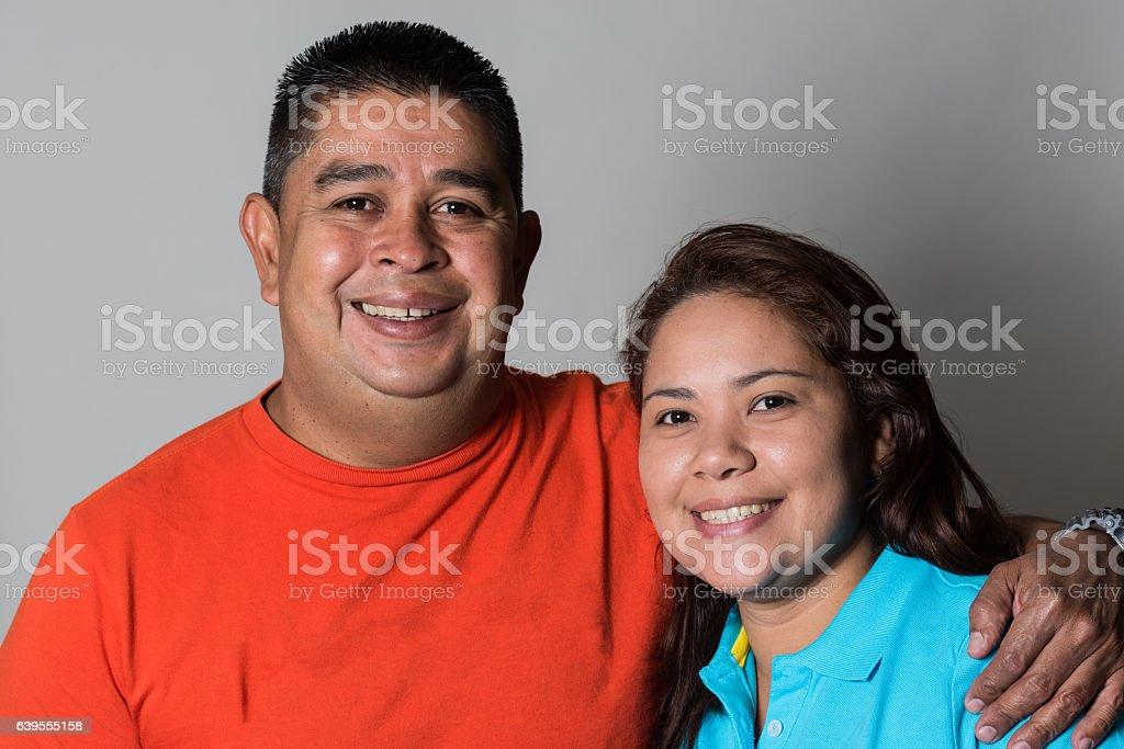 Hispanic mature couple stock photo