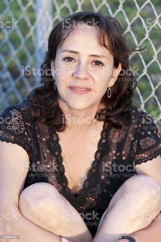 Hispanic mature housewife royalty-free stock photo