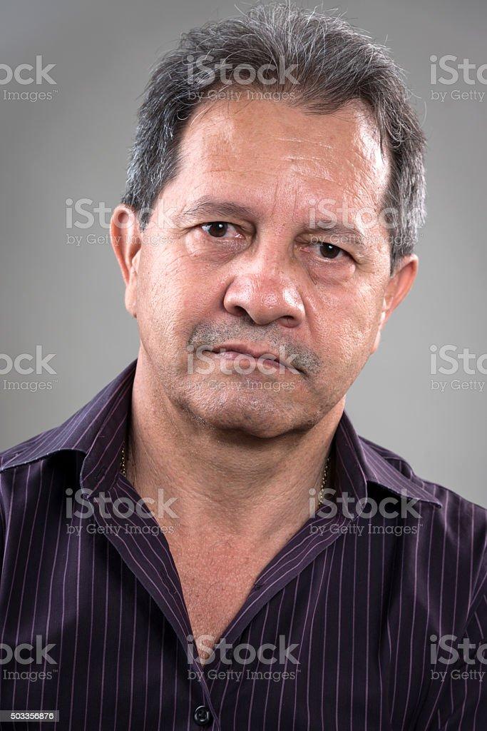 Hispanic Mature man (real people) stock photo