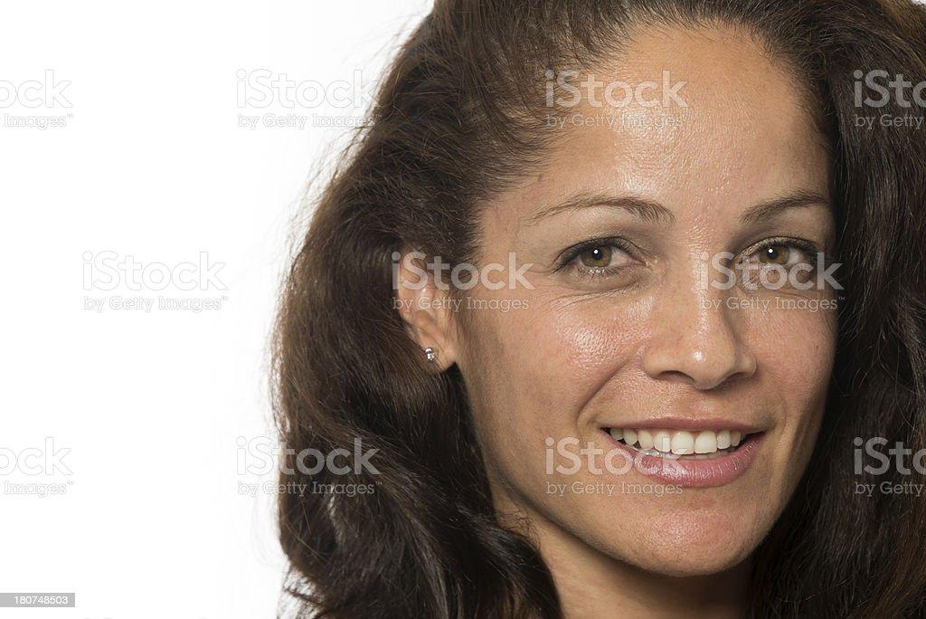 Hispanic mature woman (no make up) royalty-free stock photo