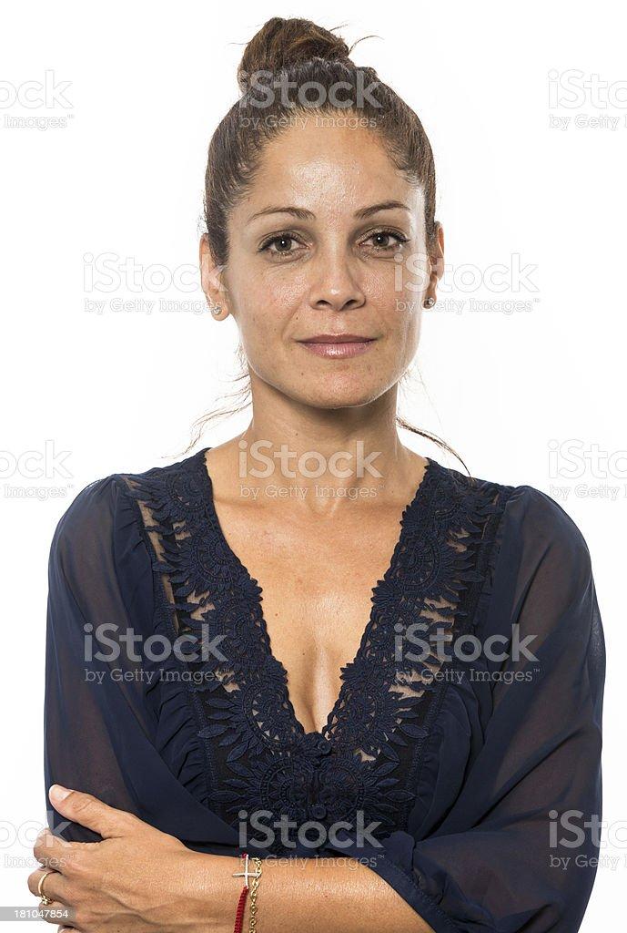 Hispanic mature woman stock photo