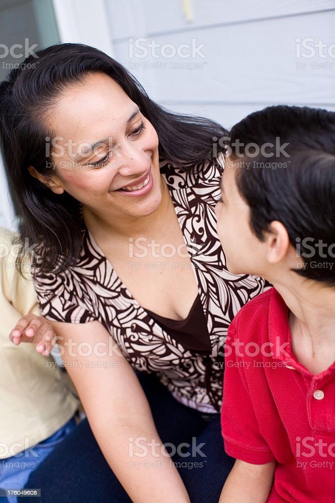 hispanic mother and son royalty-free stock photo