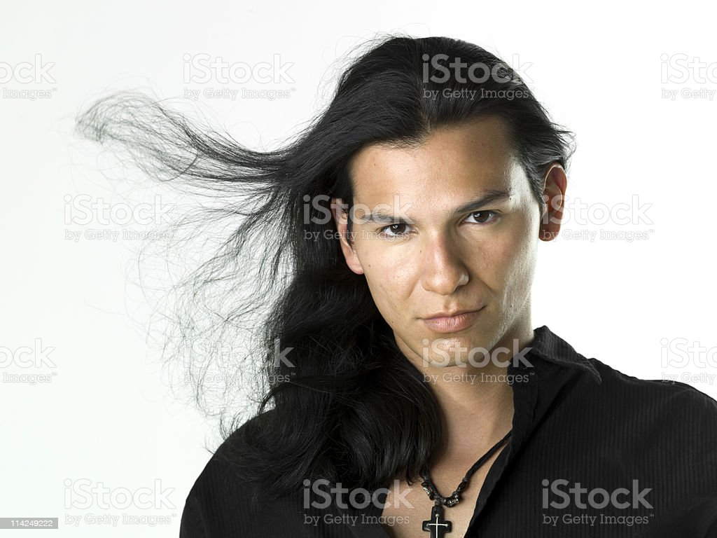 Hispanic or Native american male model royalty-free stock photo