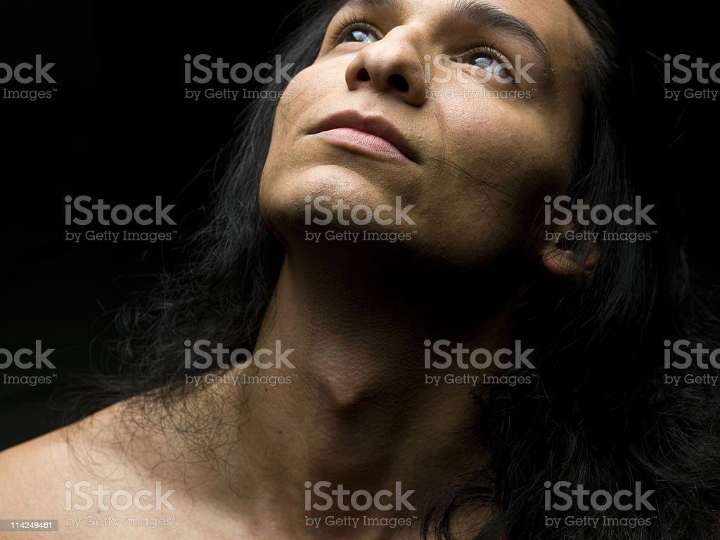 Hispanic or Native american male model royalty-free stock photo