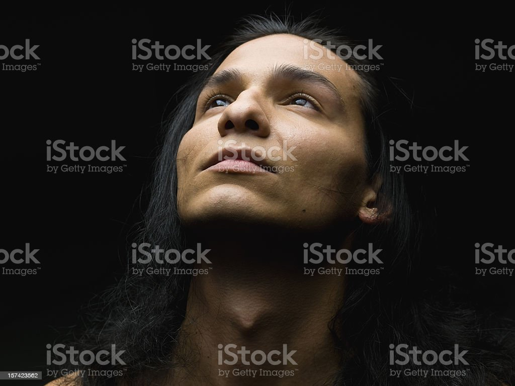 Hispanic or Native american male model stock photo
