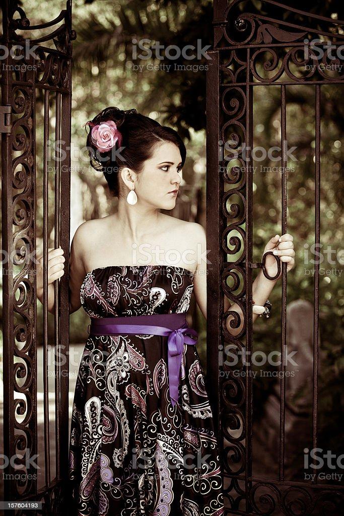 hispanic quinceanera royalty-free stock photo