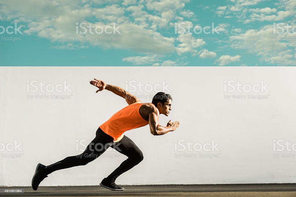 Hispanic Runner stock photo