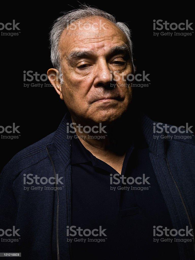 Hispanic senior man royalty-free stock photo