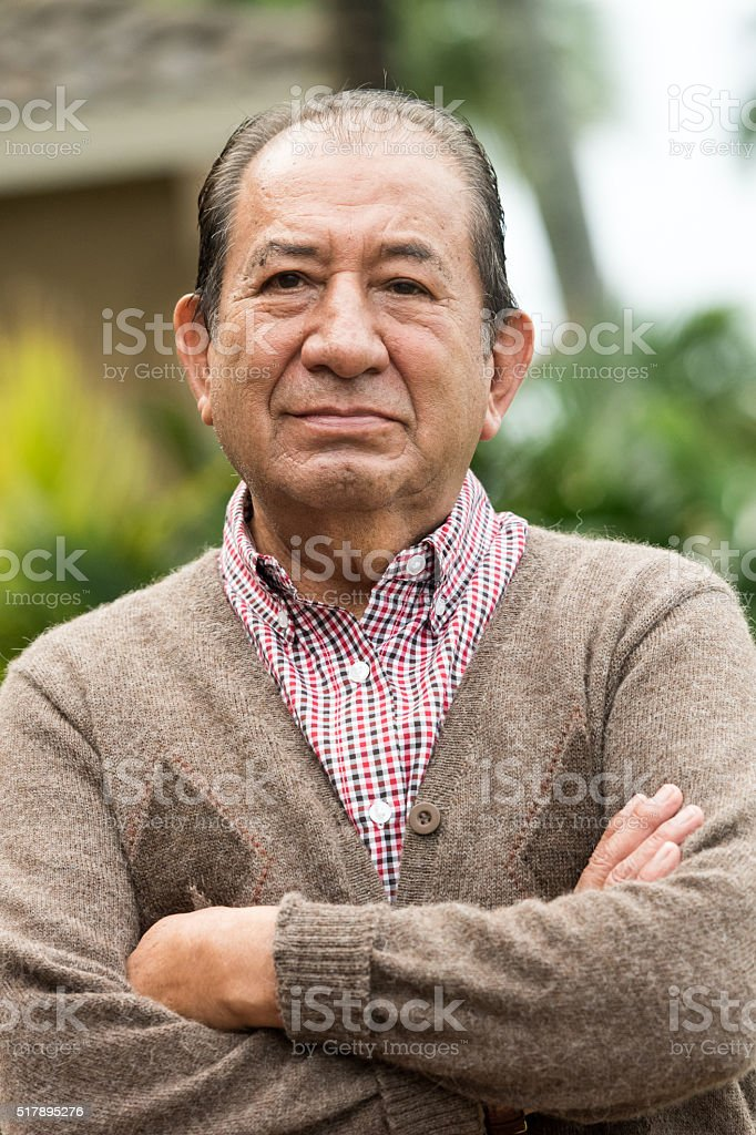 Hispanic Senior man stock photo