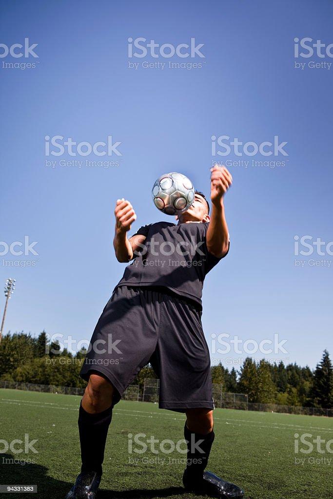 Hispanic soccer or football player stock photo
