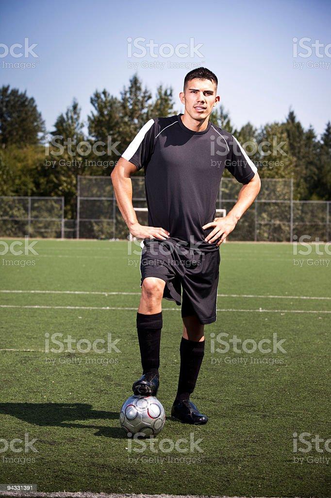 Hispanic soccer or football player royalty-free stock photo