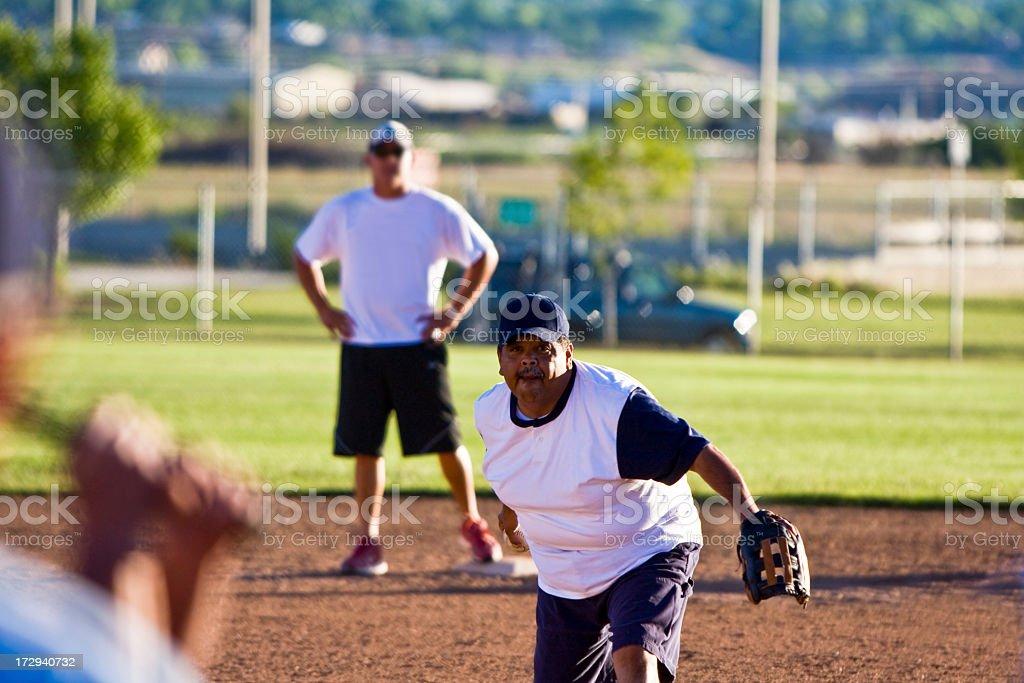 Hispanic Softball Pitcher stock photo