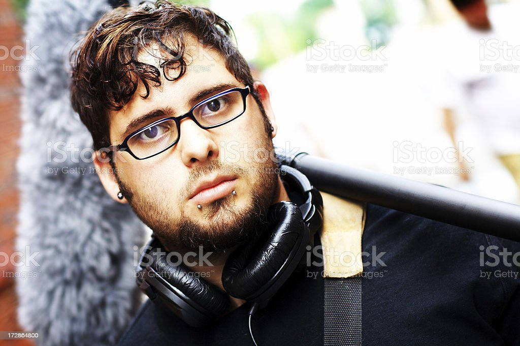 Hispanic Sound Man stock photo