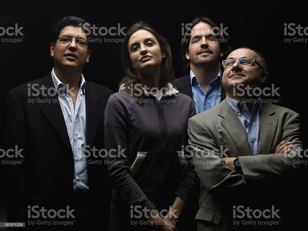 Hispanic Staff Businessmen and Businesswomen in Suits royalty-free stock photo