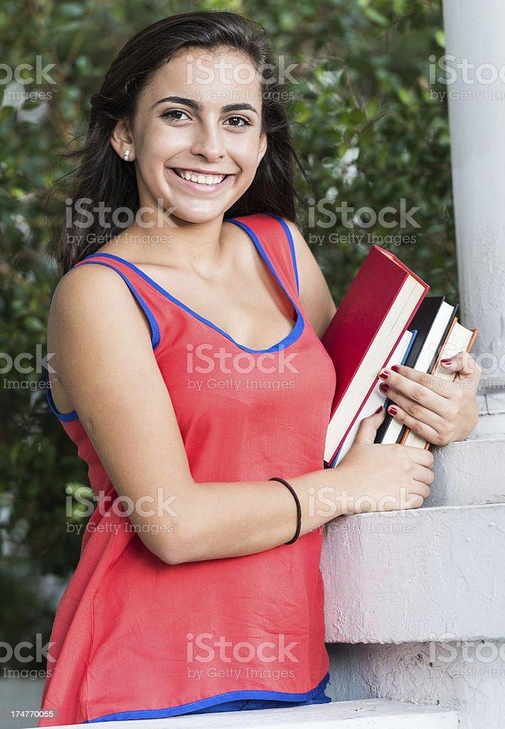 Hispanic teenage girl royalty-free stock photo