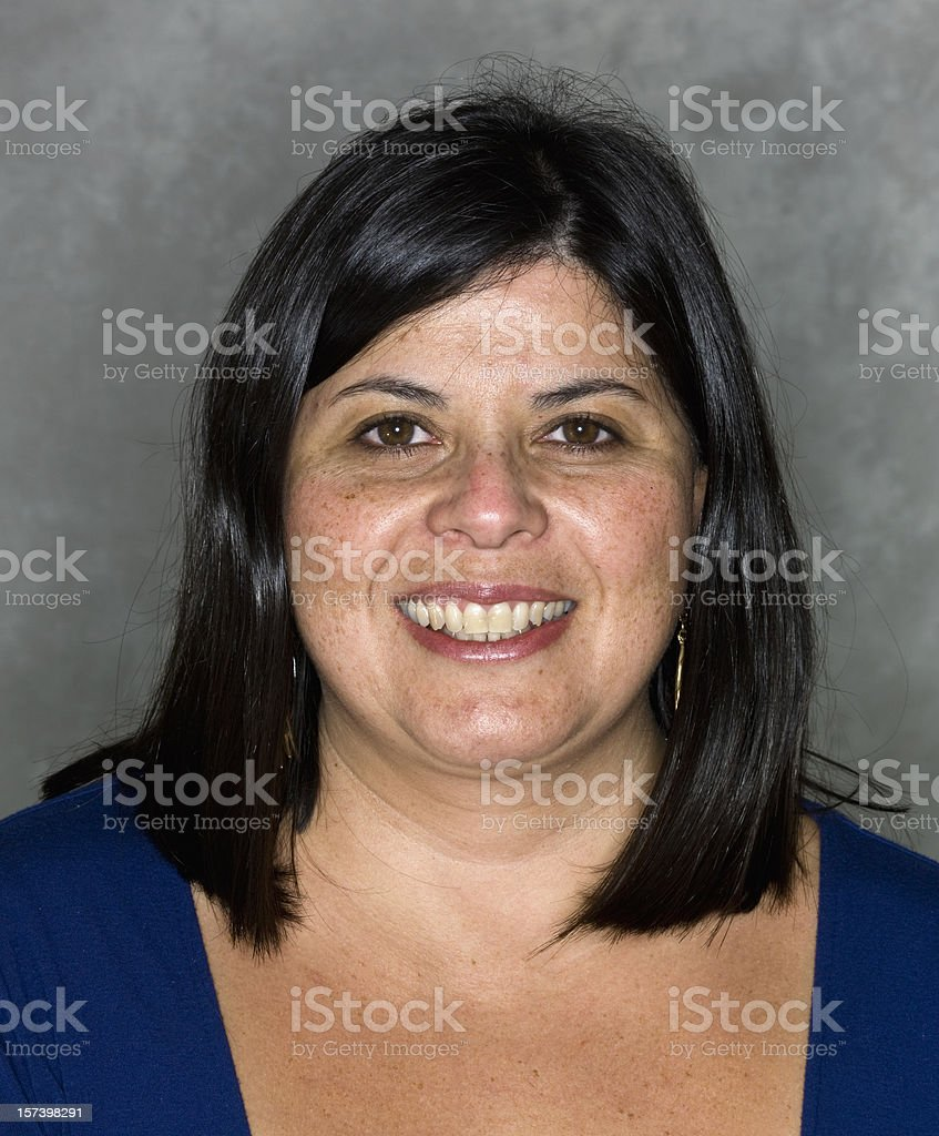 Hispanic woman at her forties royalty-free stock photo