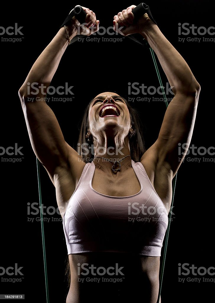 Hispanic woman exercising royalty-free stock photo
