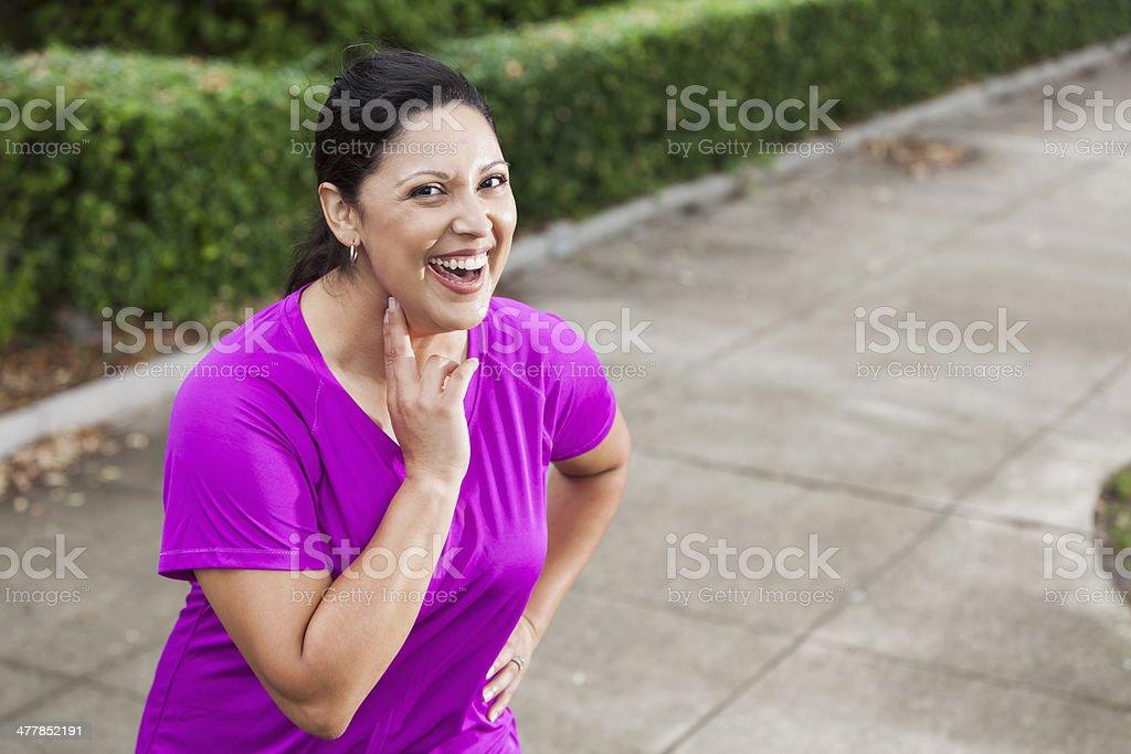 Hispanic woman outdoors royalty-free stock photo