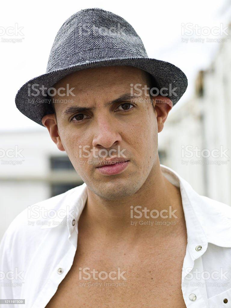 Hispanic young man royalty-free stock photo