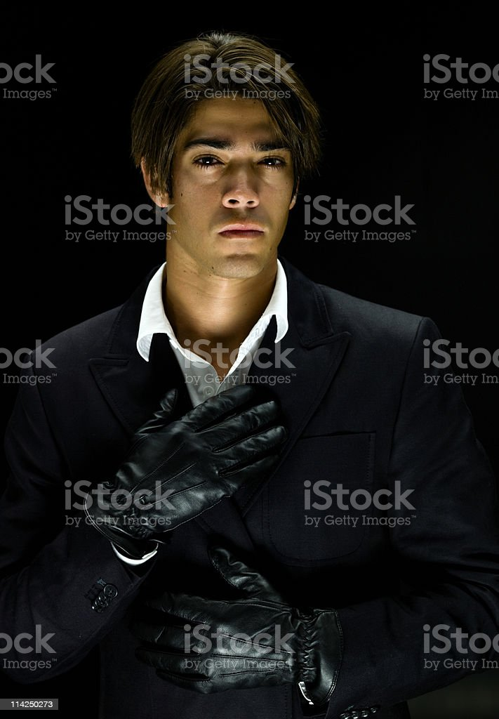 Hispanic young man portrait royalty-free stock photo