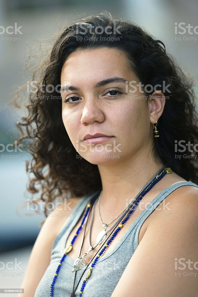 Hispanic Young Woman royalty-free stock photo