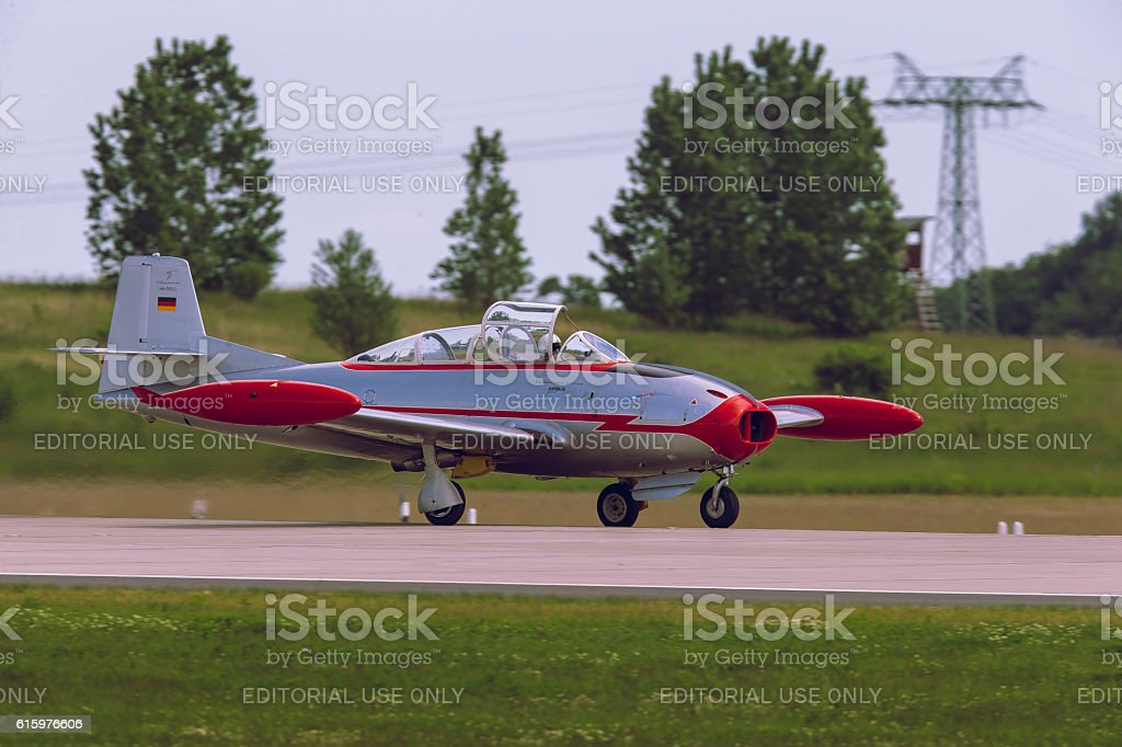 Hispano HA-200D at ILA Berlin Air Show 2014 stock photo