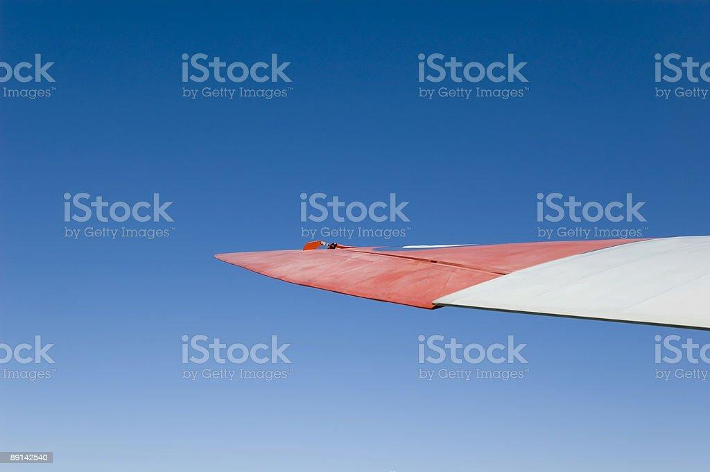 Historic Aircraft Wing stock photo