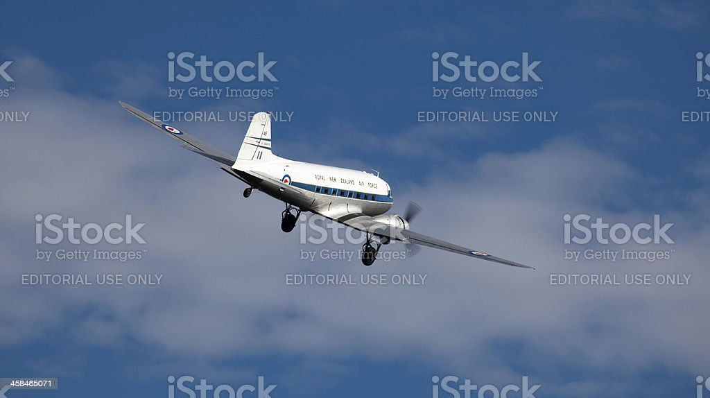 DC 3, Historic airliner, New Zealand royalty-free stock photo