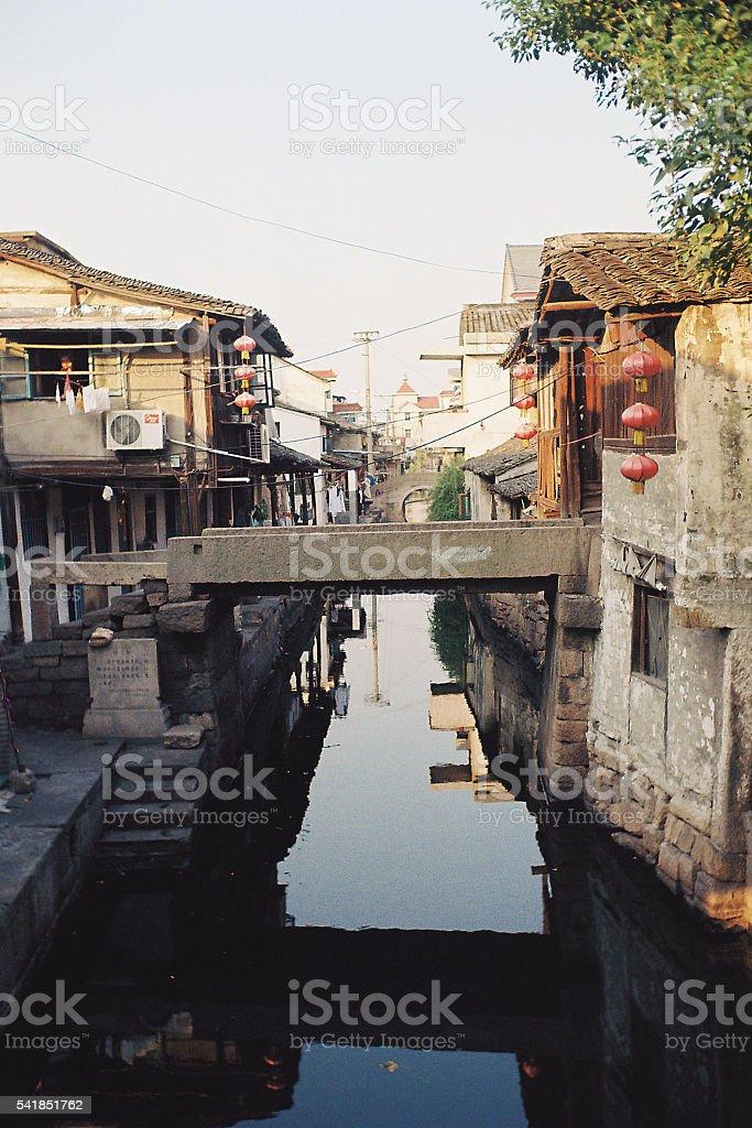 Historic AnChang River Town stock photo