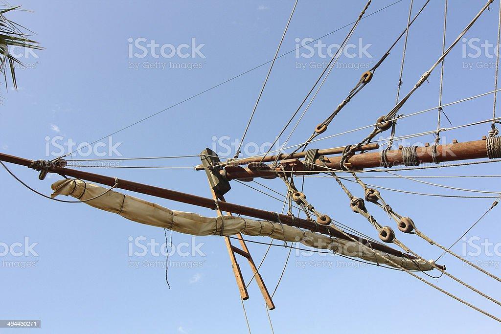 Historic and famous Spanish galleon Santisima Trinidad stock photo