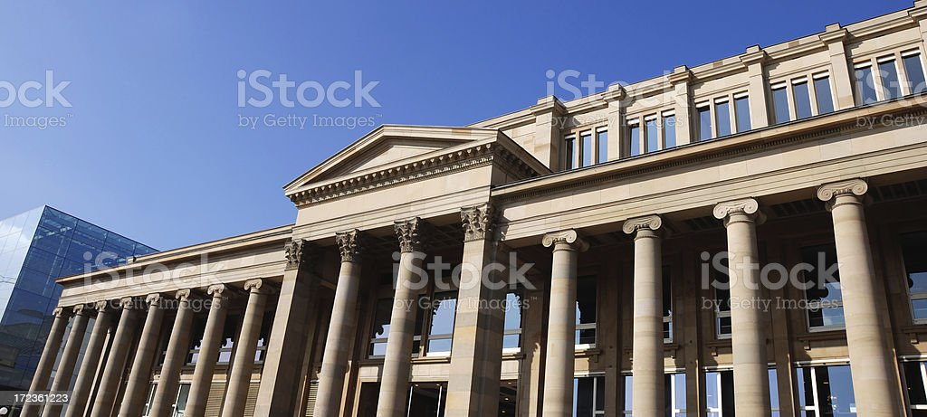 historic and modern royalty-free stock photo