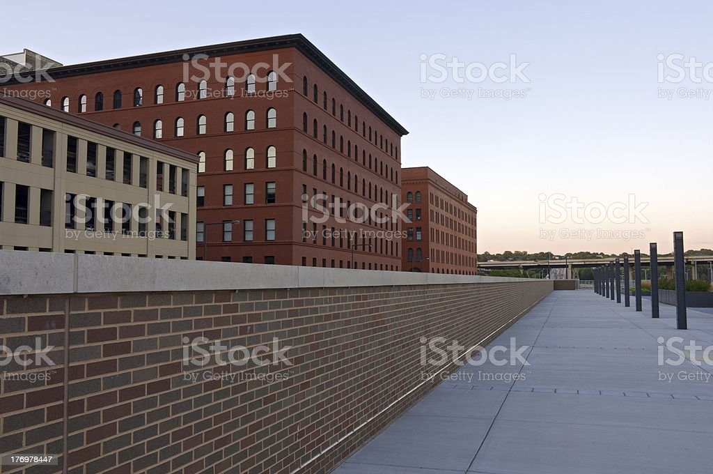 Historic Architecture in Lowertown Saint Paul royalty-free stock photo