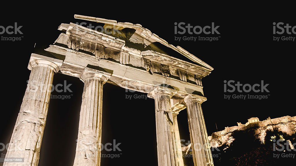 Historic Athens stock photo