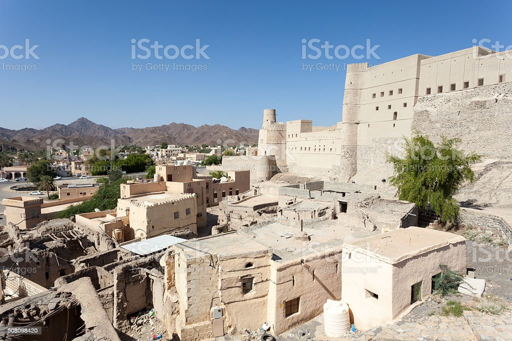 Historic Bahla Fort in Oman stock photo