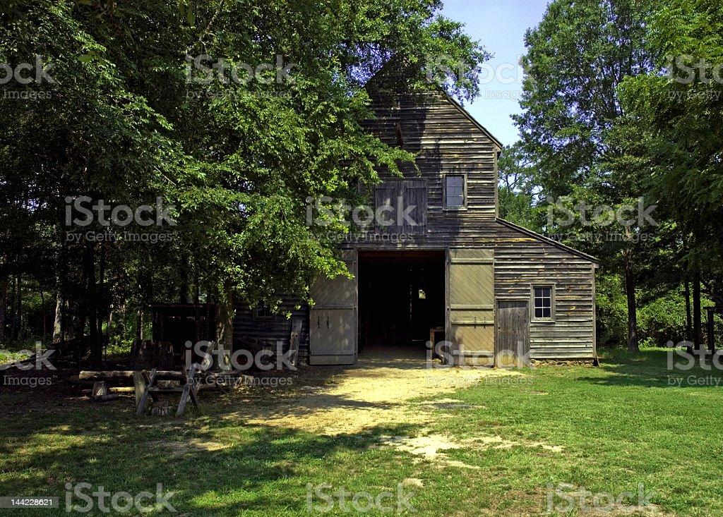 Historic Barn on Plantation in North Carolina royalty-free stock photo