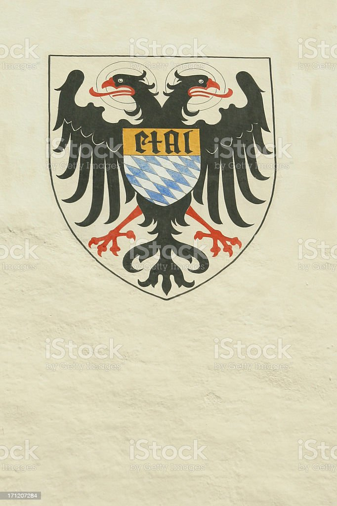 Historic bavarian emblem royalty-free stock photo