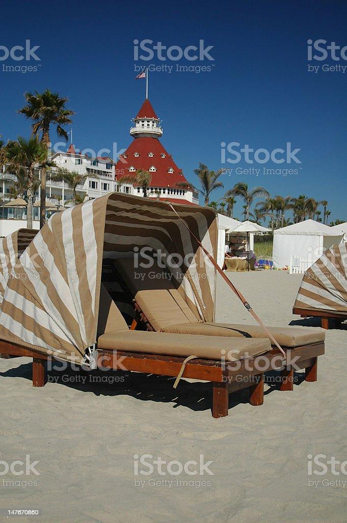 historic beach club stock photo