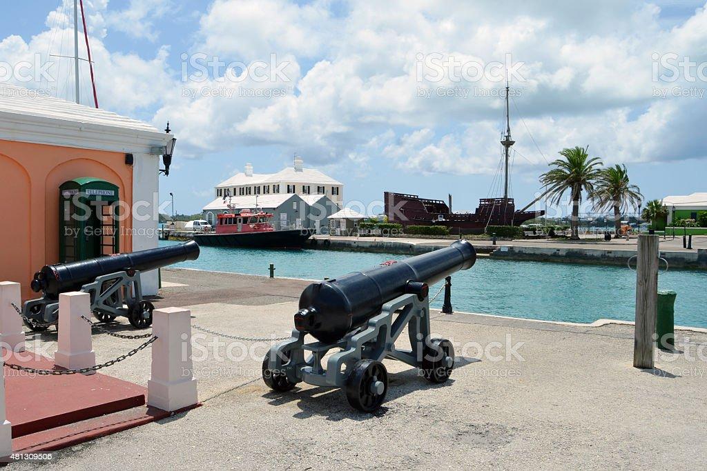Historic Bermuda stock photo
