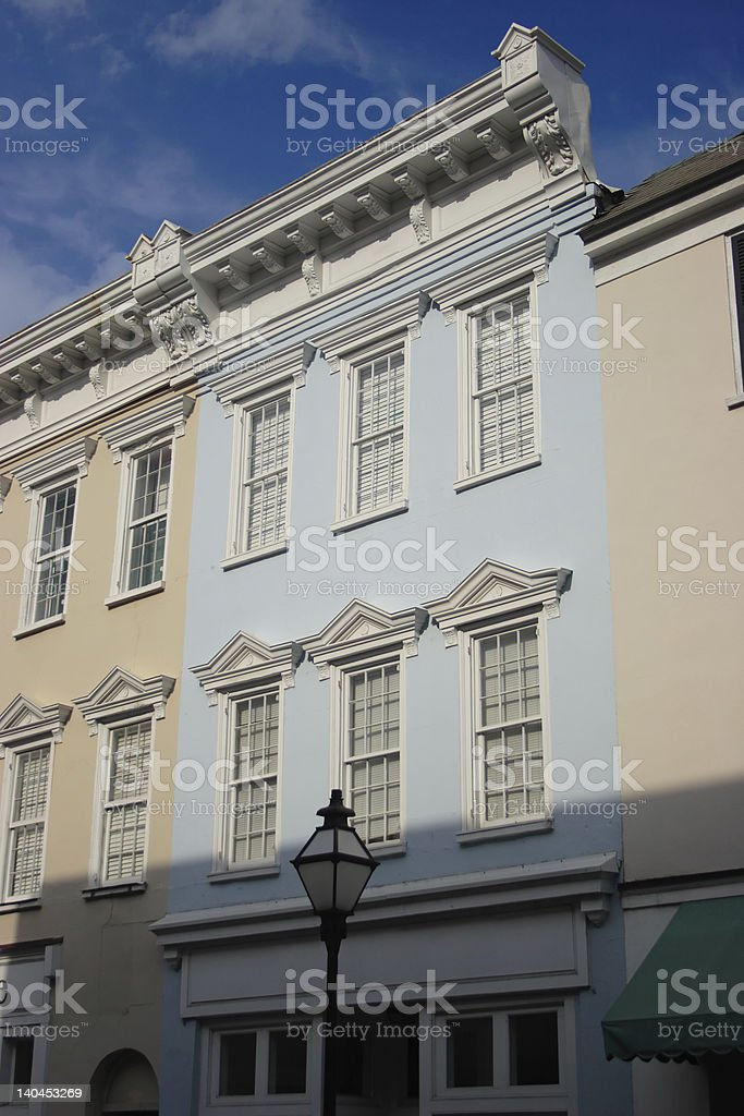 Historic Blue Store Front royalty-free stock photo