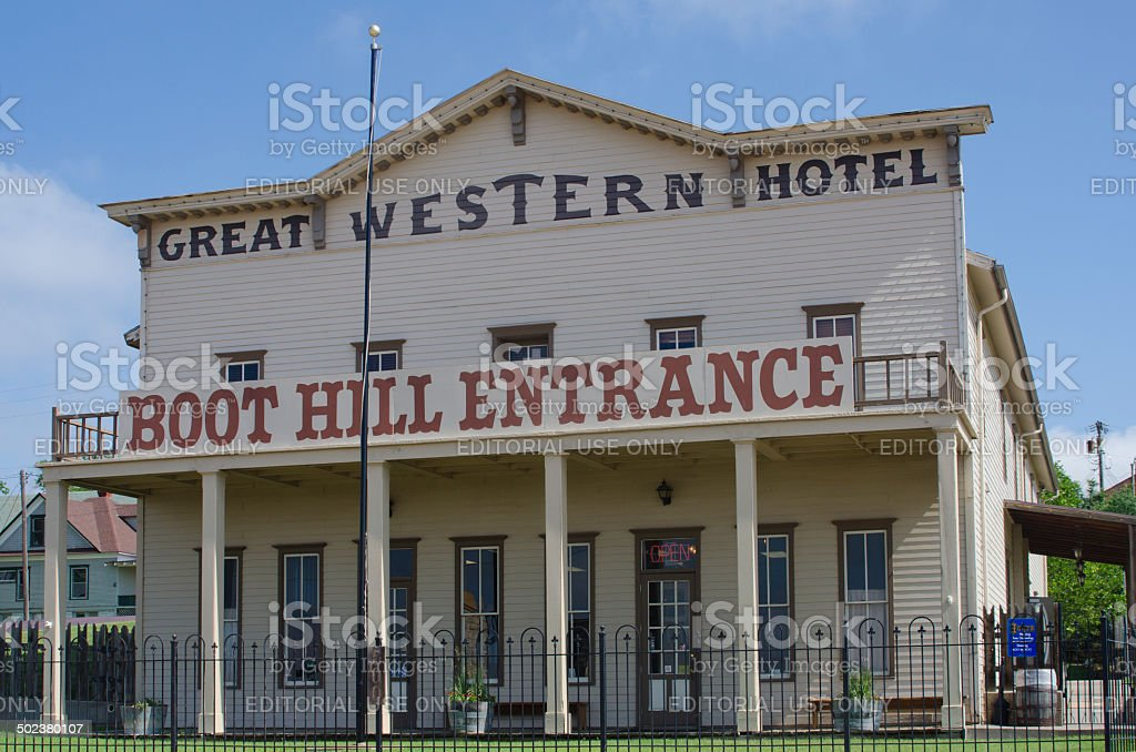 Historic Boot Hill Museum in Dodge City, Kansas stock photo