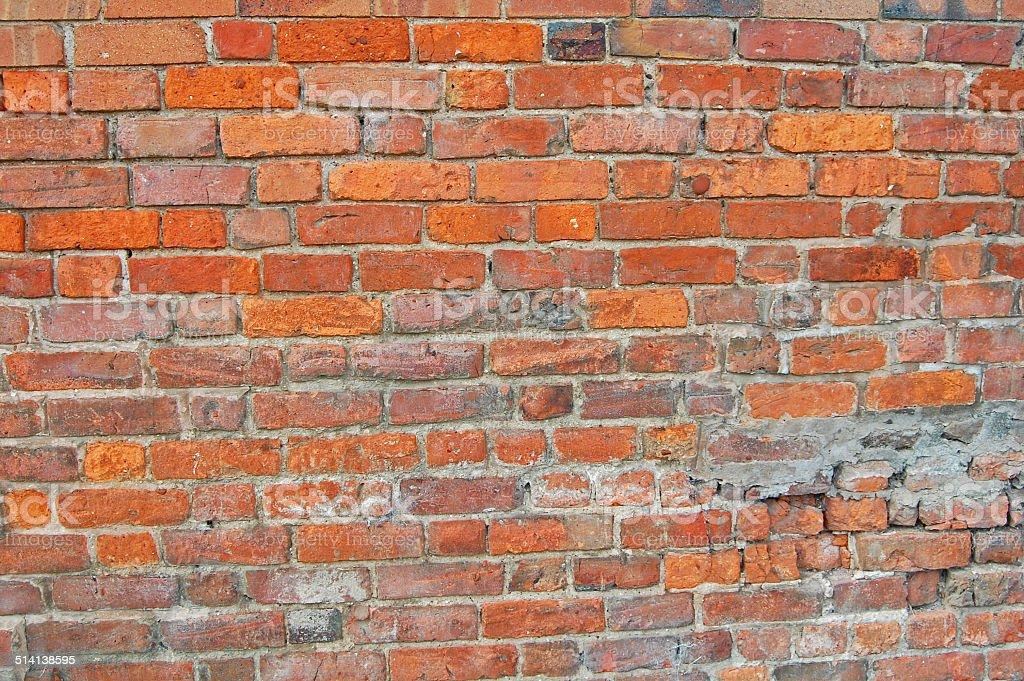 historic brick wall stock photo
