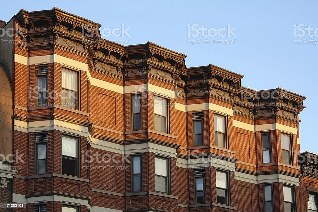 Historic Brickface Townhouses royalty-free stock photo