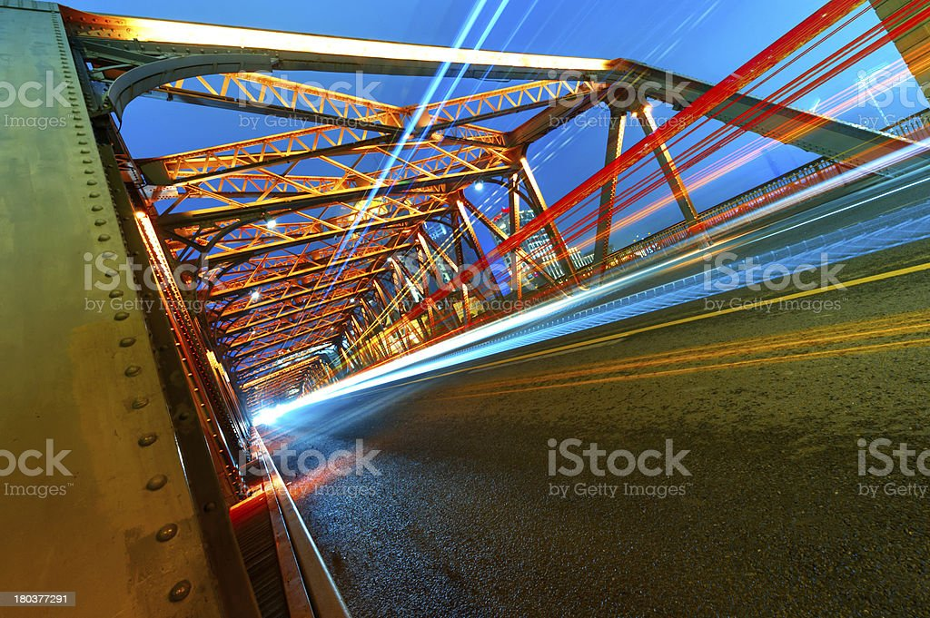 historic bridge at Shanghai royalty-free stock photo