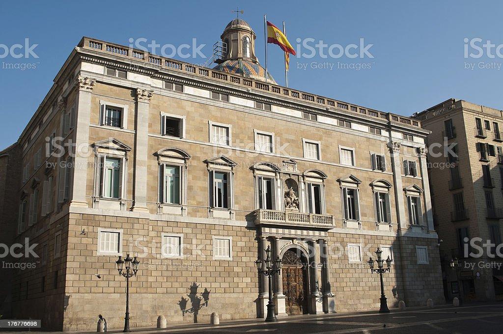 Historic building in Barcelona stock photo