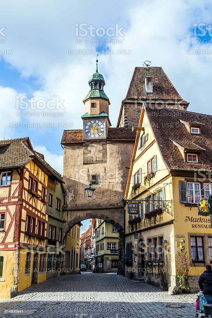 historic building in Rothenburg ob der Tauber stock photo