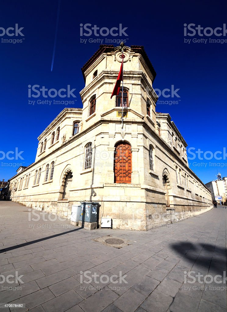 Historic building in Sivas, Turkey stock photo