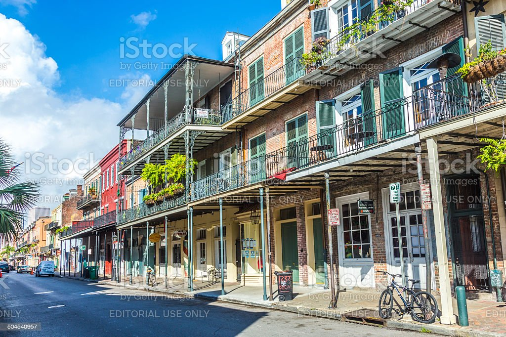 historic building in the French Quarter stock photo