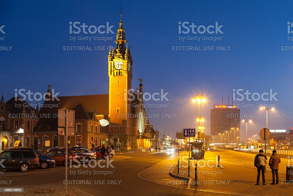 Historic building of Main Railway Station. stock photo